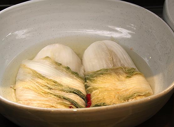 White kimchi non spicy