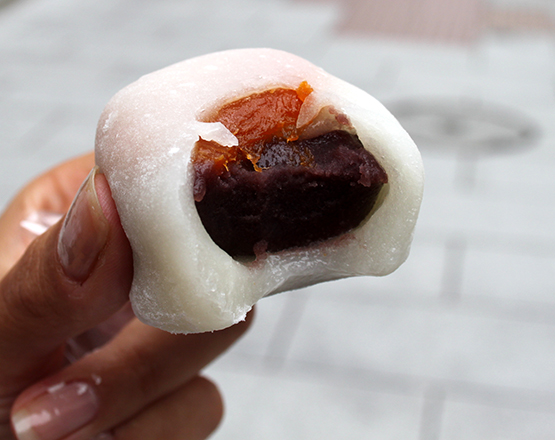 Red bean paste and apricot Mochi