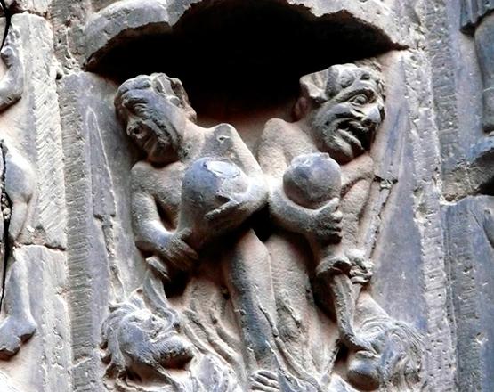 Borrachos en la Catedral de Tudela