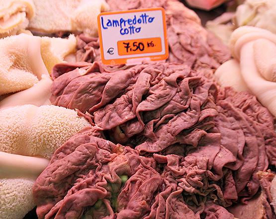Raw Lampredotto at the butcher