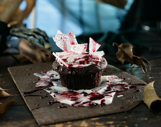Cupcake-sangriento-comida-terrorifica