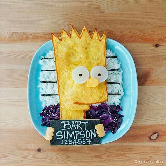 Bart Simpson de tortilla Samantha Lee