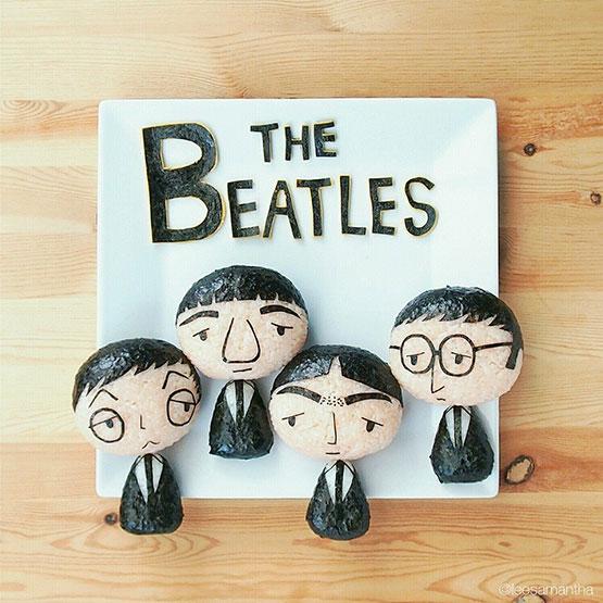 The Beatles en su versión bento samantha lee