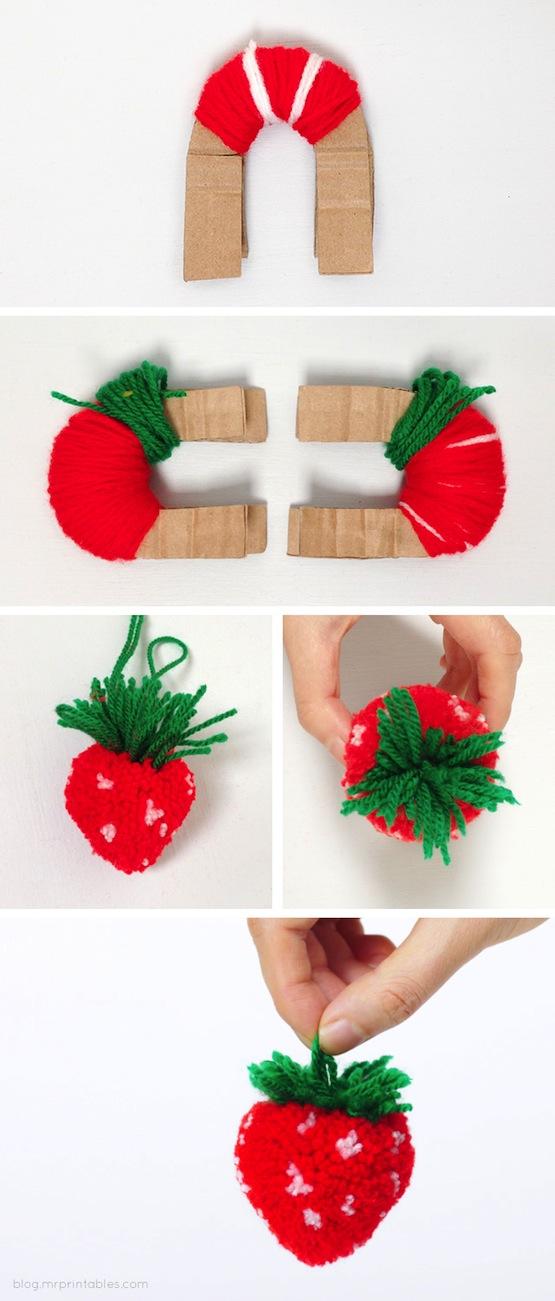 pompones de frutas