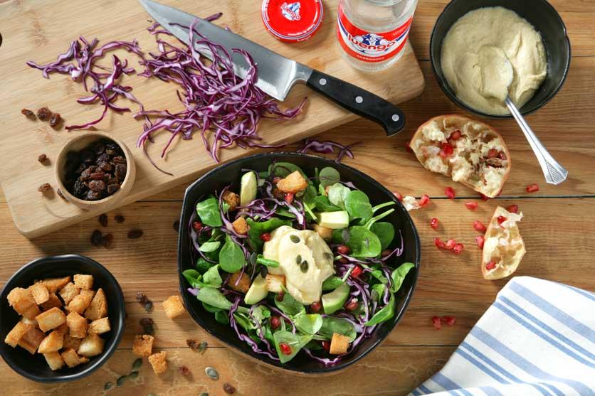Recetas de hummus ensalada