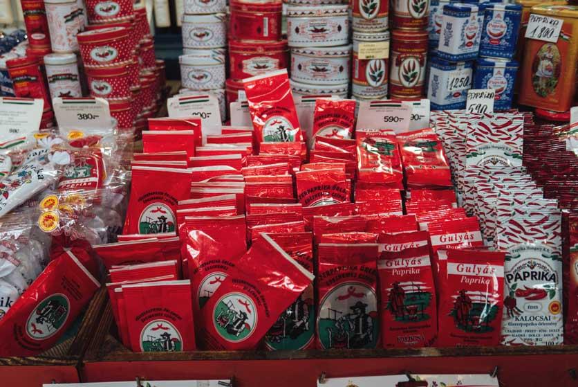 Comer en Hungría productos