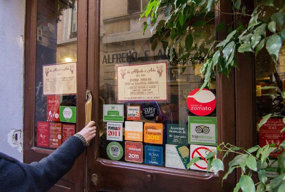 Restaurantes en Roma alfredo e ada